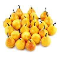 24x Deko Birnen in gelb klein, 3,2 x 3,5cm künstlich, lose !!!