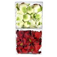 Rosenblätter, Streublüten, Seide ca. 100 St. 4+3cm in Box, Tischdeko !!!