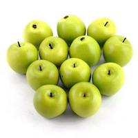 12x Deko Äpfel in grün, 4,5cm künstlich, lose !!!