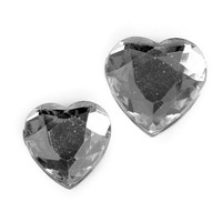 """120 St. Herz 2 Größen """"Acryldiamant"""", 2,7 u. 2,0cm silber/klar, Streuherzen !!!"""