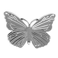 """40 St. Schmetterlinge mit Loch """"Pure"""" 4,0x5,0cm silber, Streuartikel, Metall !!"""