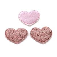 """50 St. Stoffherz altrosa """"Heart"""" zweilagig mit Spitze geprägt 6cmx5cm !!!"""