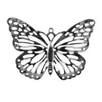 """40 St. Schmetterlinge filigran """"Pure"""" 3,5x5,0cm silber, Streuartikel, Metall !!!"""