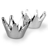 """60 St. Kronen zum Streuen """"Crown"""", D 2,0/1,2cm silber, Streukronen, Acryl !!!"""
