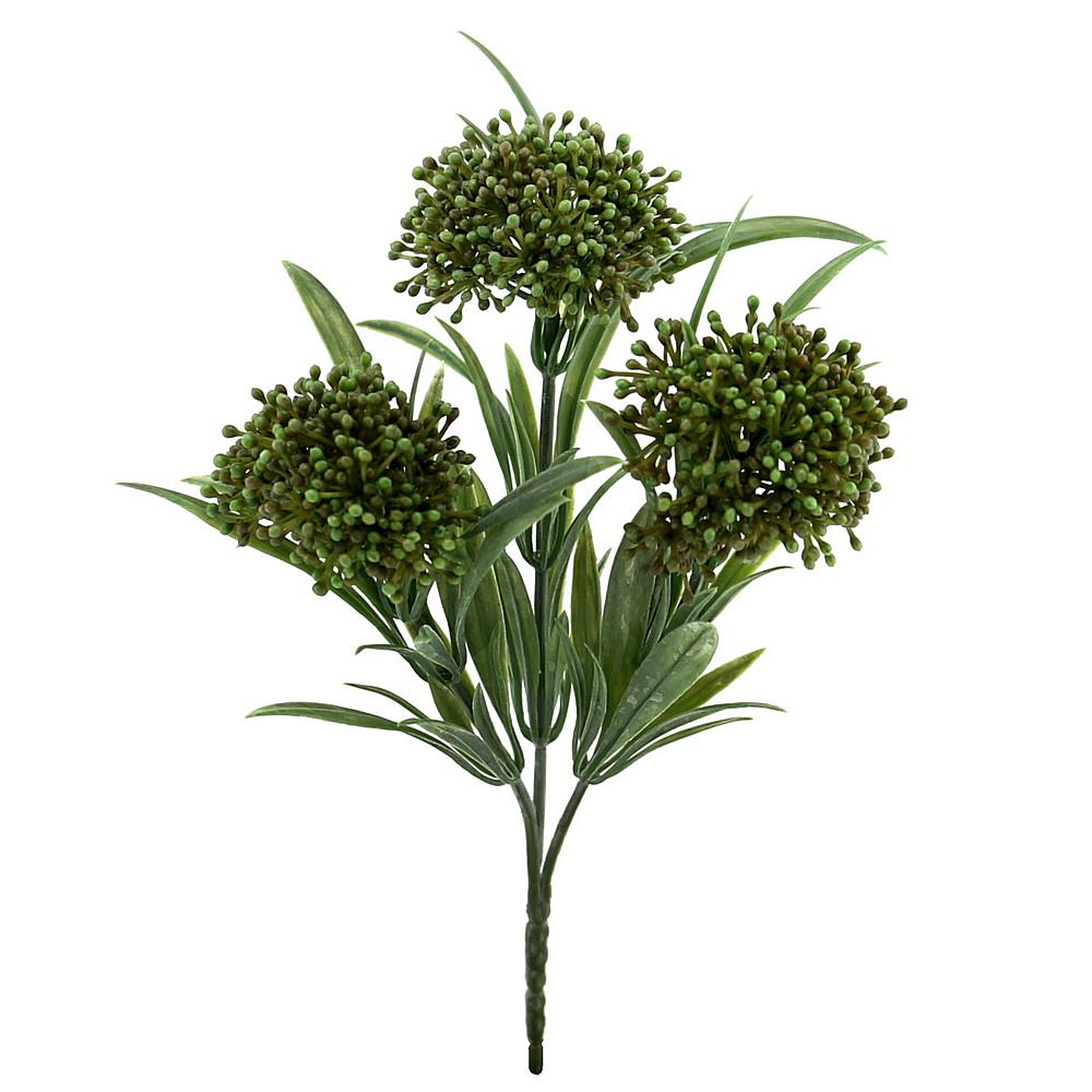 3x Herbstbusch mit je 3 Triebe, L12/20cm, Kunststoff, wetterfest/ grün
