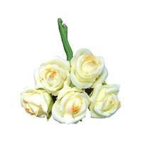 Röschen Bund Foam, 3,5cm/ Bund = 5 Blüten, Farbe: 08 hellgelb