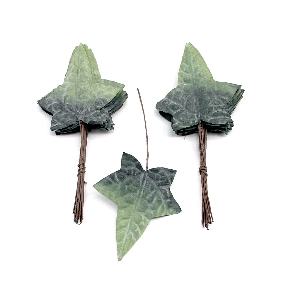 Latex-Efeublätter graugrün 32 Blätter, 10cm x 8,5cm/ NICE PRICE !!!