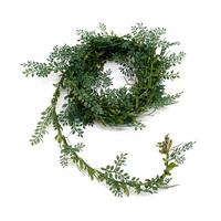 Teeblatt- Girlande m. Draht, 3 Meter Kordel, grün, TOP***