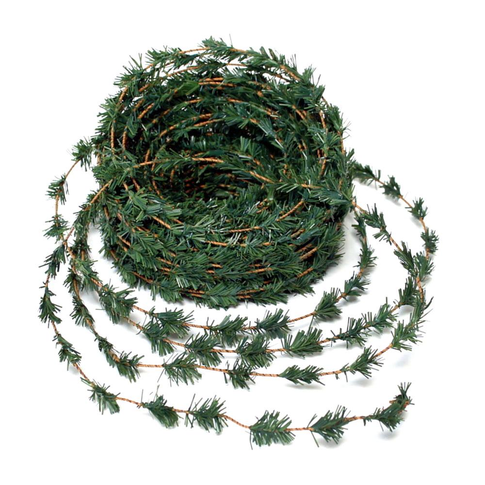 Zedern- Girlande mini, Draht/ 27 Meter, Weihnachtsgirlande mit Draht !