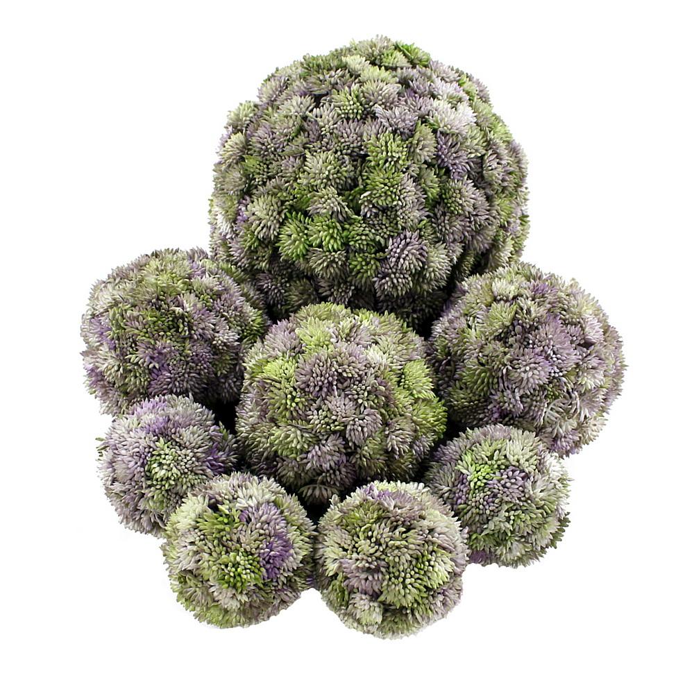 Sedum Kugel violett, Sedum Ball, Fette Henne, künstlich, sehr dekorativ