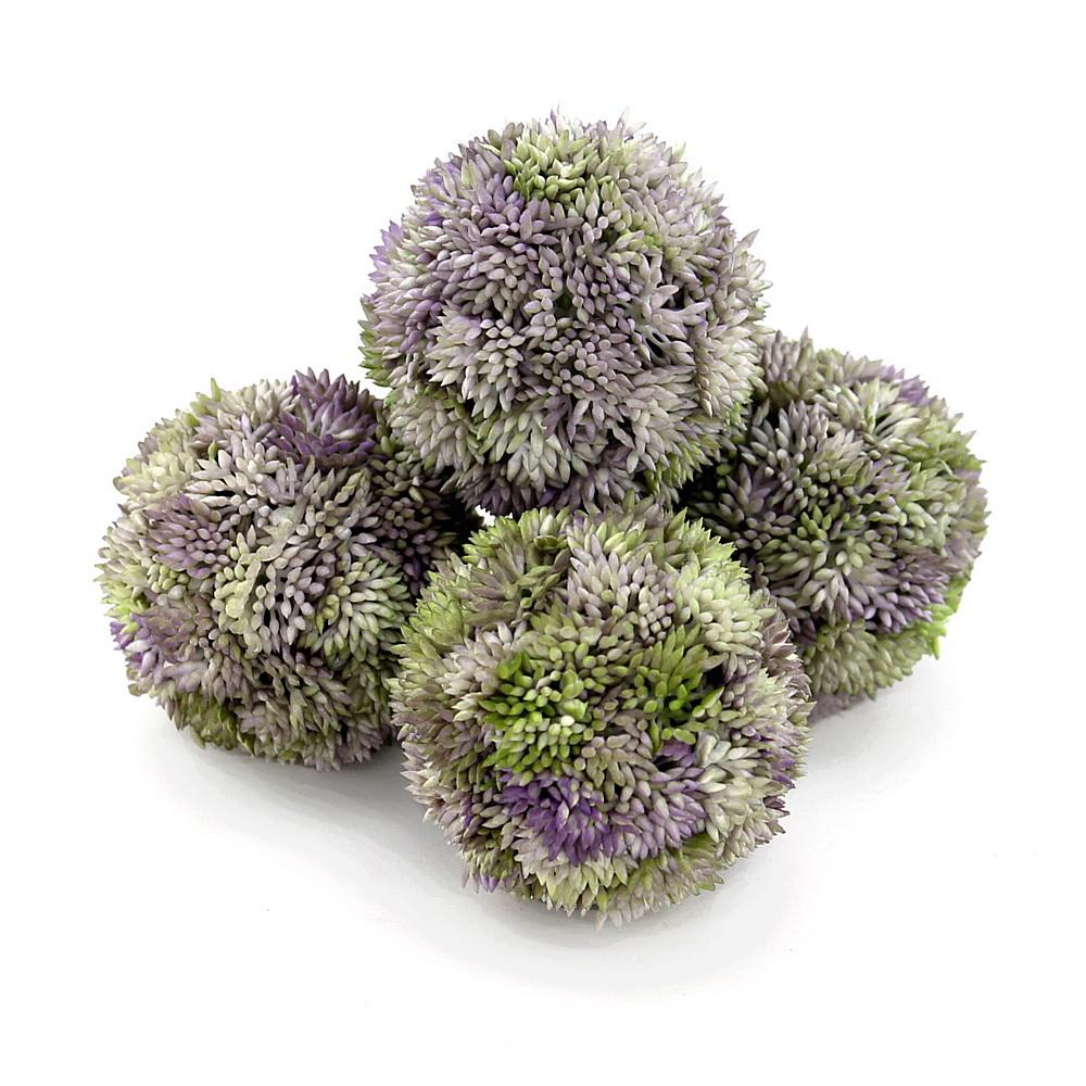 Sedum Kugel violett, Sedum Ball, Fette Henne, künstlich // 4 St. Ø 7cm