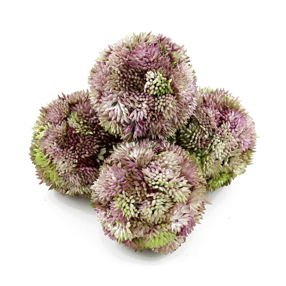 Sedum Kugel rosa, Sedum Ball, Fette Henne, künstlich // 4 St. Ø 7cm