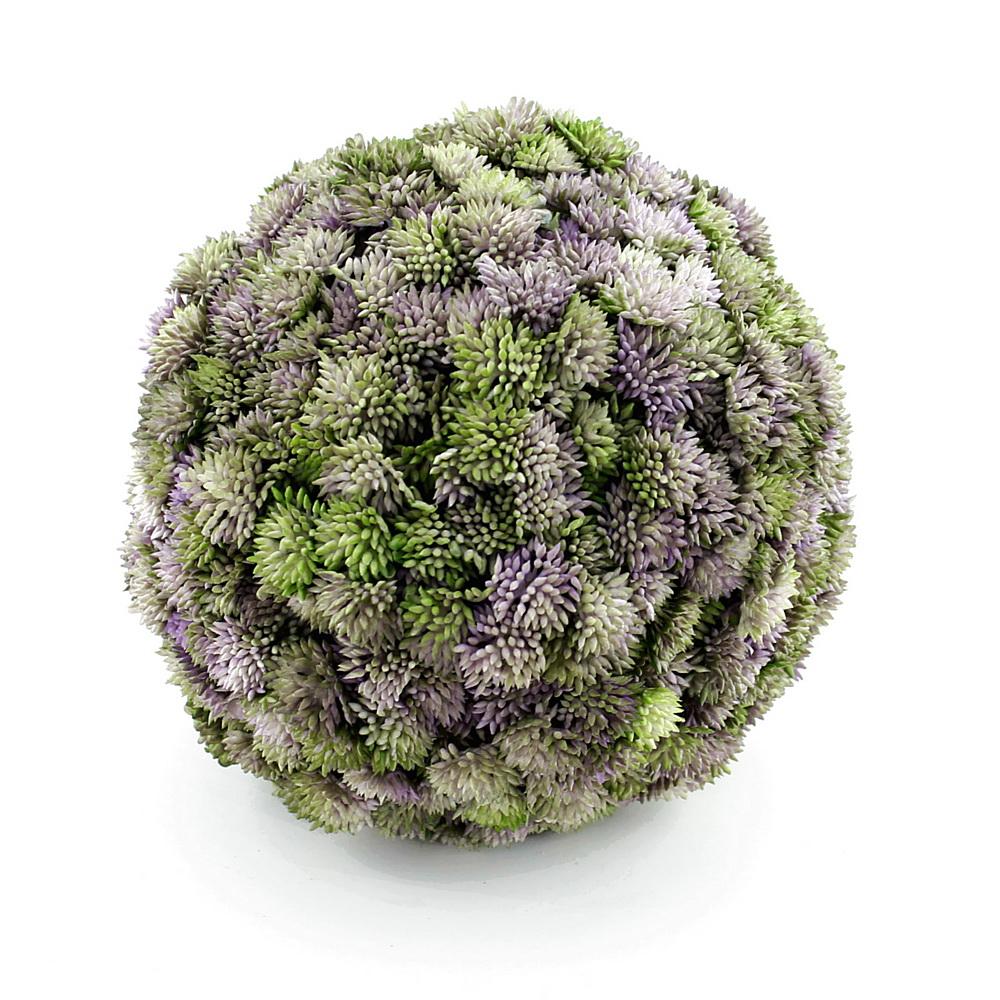 Sedum Kugel violett, Sedum Ball, Fette Henne, künstlich / 1 St. Ø 18cm