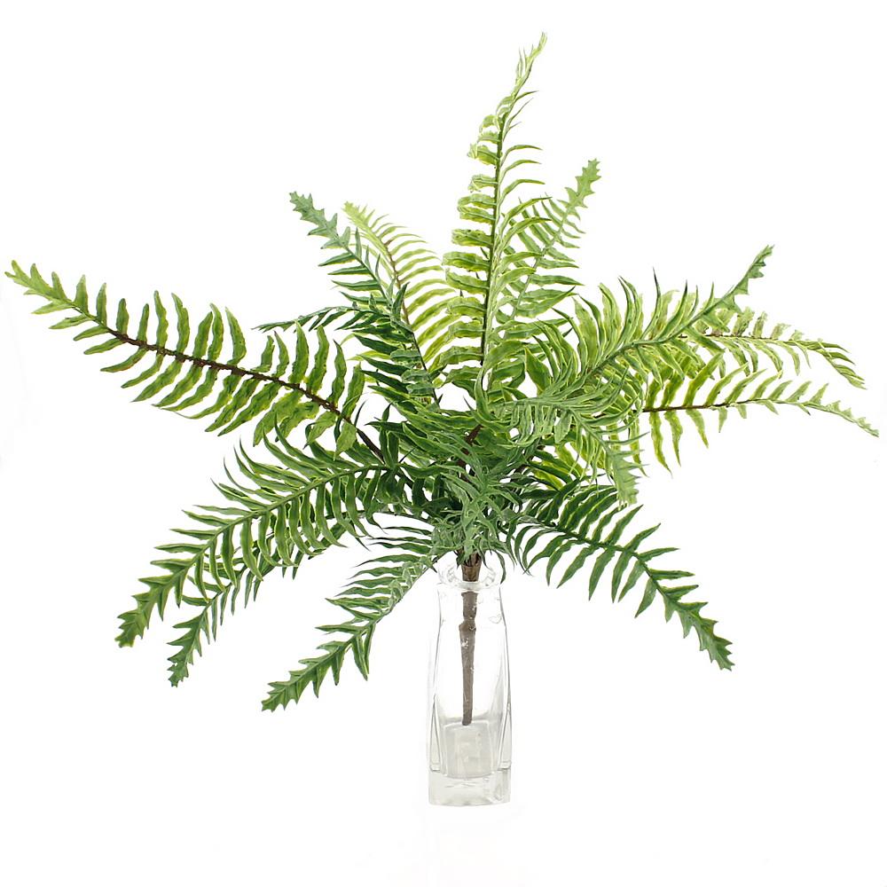 Farn Pflanze x6, L 40/25cm, Farnbusch, Waldfarn, Kunststoff gummiert !