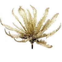Farn Pflanze gold x26 Bätter groß, L 50/38cm, Farnbusch, Waldfarn, Kunststoff !!