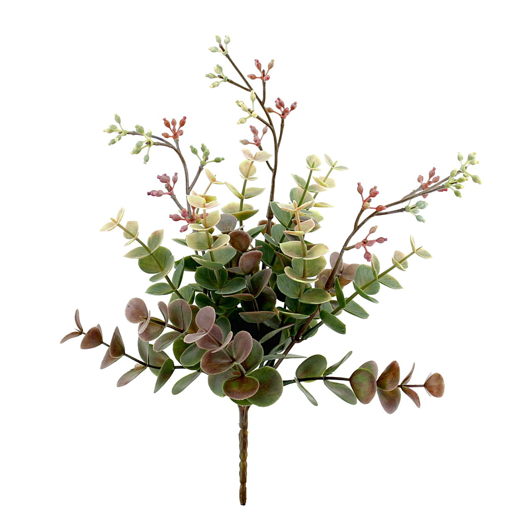 Eukalyptus Busch grün/violett, L 20/26cm, Kunststoff, outdoor !!!