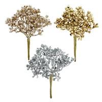 6x Glitter Doldenpick mit je 6 Triebe, Länge 5/13cm, Kunststoff !!!