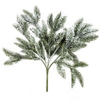Tannenzweig mit Schnee, mit 5 Triebe, L 30/20cm, künstlich !!