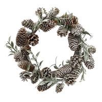 Zapfen Beeren Mistel Kranz 25cm, bereift braun/grün künstlich Türkranz