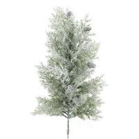 Zypresssen Baum beeist mit Zapfen, komplett L 53/33cm, künstlich !!!
