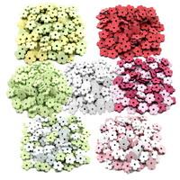 100x Streu-Blumen Holz flach, mit Loch 2cm, Holzblüten, Tischdeko !!!