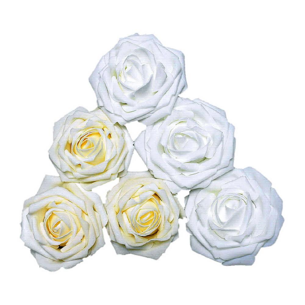 Foam- Rosen, Ø 10cm Super Groß, Schaum- Rose, 3 Stück !!!