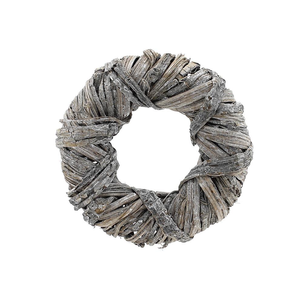 Rindenstreifen Kranz weiß gewaschen Türkranz, Holzkranz, Rinde/ Ø 20cm