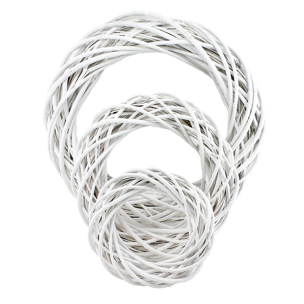 Weidenkranz weiß gefärbt, matt, 25/35/50cm, Shabby, Holzkranz !!!