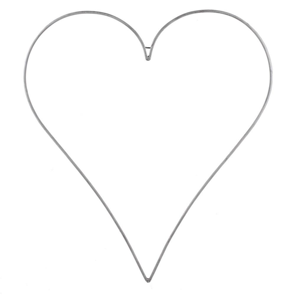 Metallrahmen-Herz spitz, weiß, groß bis BIG 50cm/ 70cm 100cm !!!