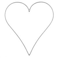 Metallrahmen-Herz spitz, weiß/grau, groß bis BIG 50cm/ 70cm 100cm !!!