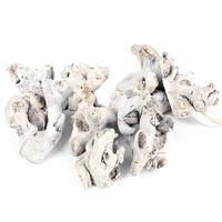 Wurzelholz Stücke im Netz, geweißt, Bastelholz, L6-12cm, ca. 0,5kg !!