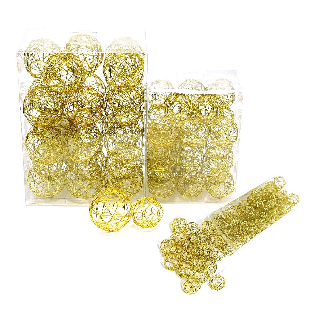 Drahtkugeln in gold, 1,5cm/3cm/4cm Drahtbälle, Dekokugeln, Sparbox !!!