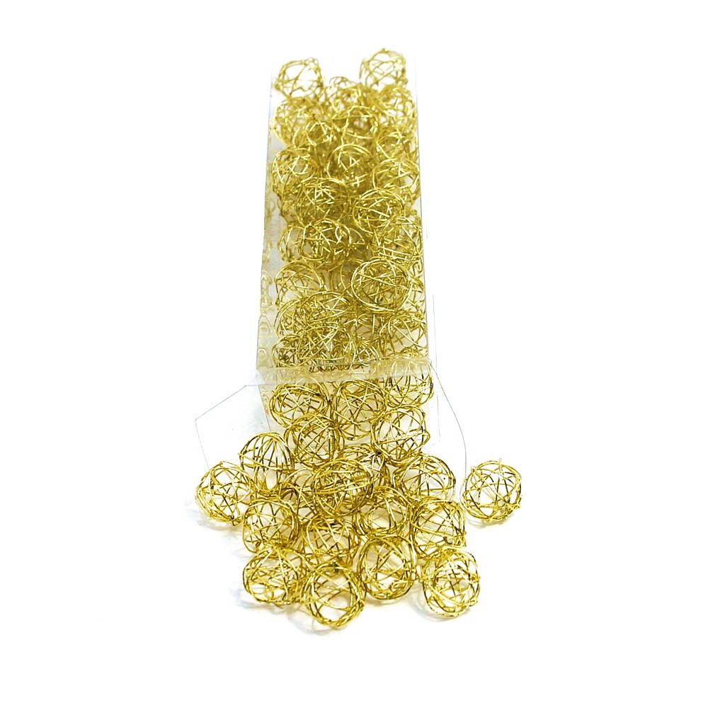 Drahtkugeln in gold, 1,5cm/3cm/4cm Drahtbälle, Dekokugeln, Sparbox !!! 1,5cm/ 60