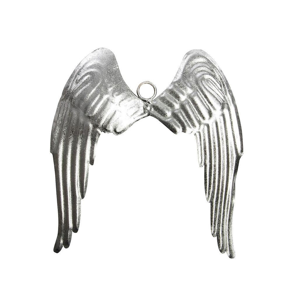 Antikmetall-Engelsflügel silber, 23,5x26,5cm groß, Metall Flügel !!!