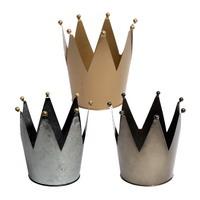 "Metall ""Krone"" als Topf, H17cm x Ø14cm groß, Blumentopf !!!"