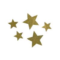72x Sternstreuer Holz d.-gold, 2 Größen 1,5cm+2,5cm, Stern, Streuer !!