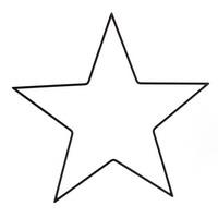 Metall- Rahmen Stern schwarz, in 3 Größen 25/35/50cm !!!