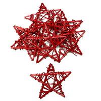10 Rattan-Sterne 7cm d.-rot, Sterne Weihn./ TOP PREIS !!!