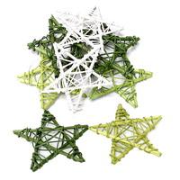 8 Rattan-Sterne 10cm grün/creme Sortiment (3 Farben) Sterne/ TOP PREIS