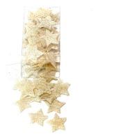 60 St. Sisal Sterne 3cm Farbe: creme (gebleicht)