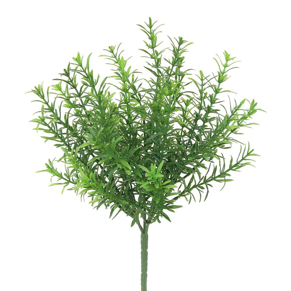 Rosmarien Busch grün x5 Triebe, Kunststoff Pflanze, outdoor, L 33/23cm