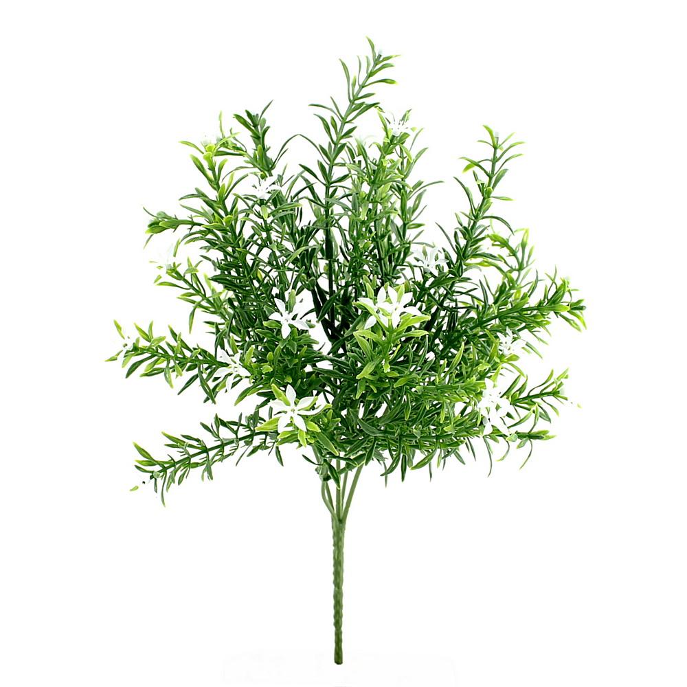 Sternblütenbusch grün/weiß x5, L 33/10cm, Kunststoff, outdoor !!!