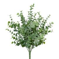 Eukalypthus Busch grün x7 Triebe, Kunststoff Pflanze outdoor L35/11cm