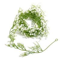 Schleierkraut Girlande 1,8 Meter, Kunststoff, gypsophila weiß/grün !!!