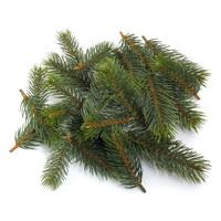 24x Tannenstreu grün, 3 Größen L 7/9/12cm, Tanne, Kunststoff, outdoor