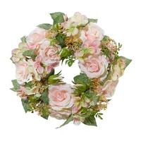 RosenKranz mit Hortensien gemischt, D 30cm, lachs/rosa/grün !!!