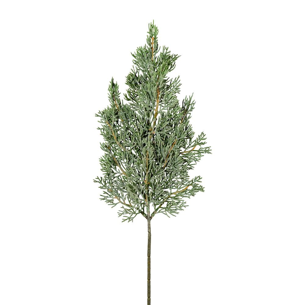 3x Zypressenzweig geeist L50/30cm, Kunststoff, outdoor, frost !!!