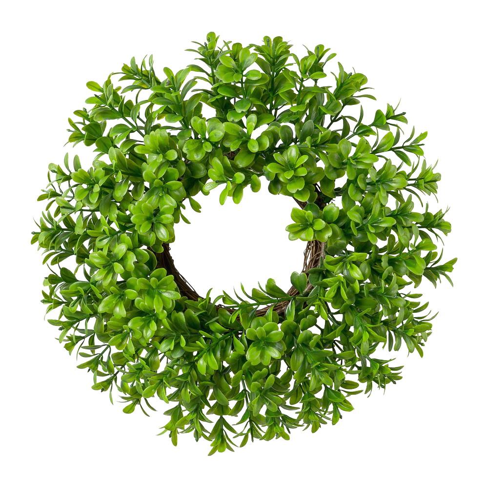 Buchsbaum Kranz auf Ring aus Rebe, Tischdeko, Kunststoff !! klein 28cm