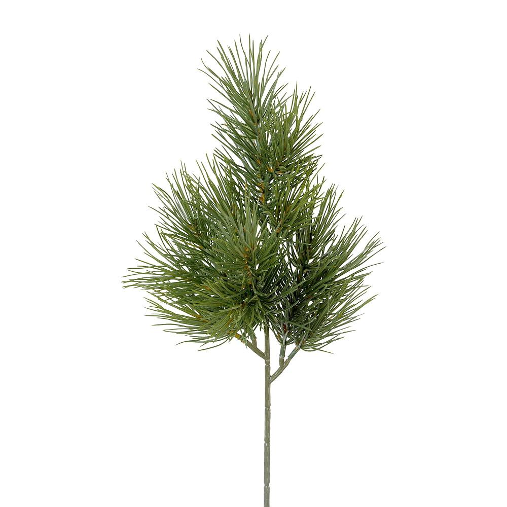 3x Tannenzweig grün x4 Triebe 12 Spitzen L40/25cm, Kunststoff, outdoor