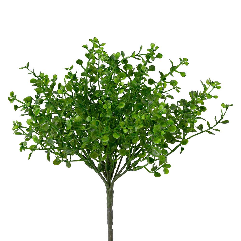 Mühlenbeckia Busch grün x7 Triebe, Kunststoff Pflanze outdoor L28/11cm
